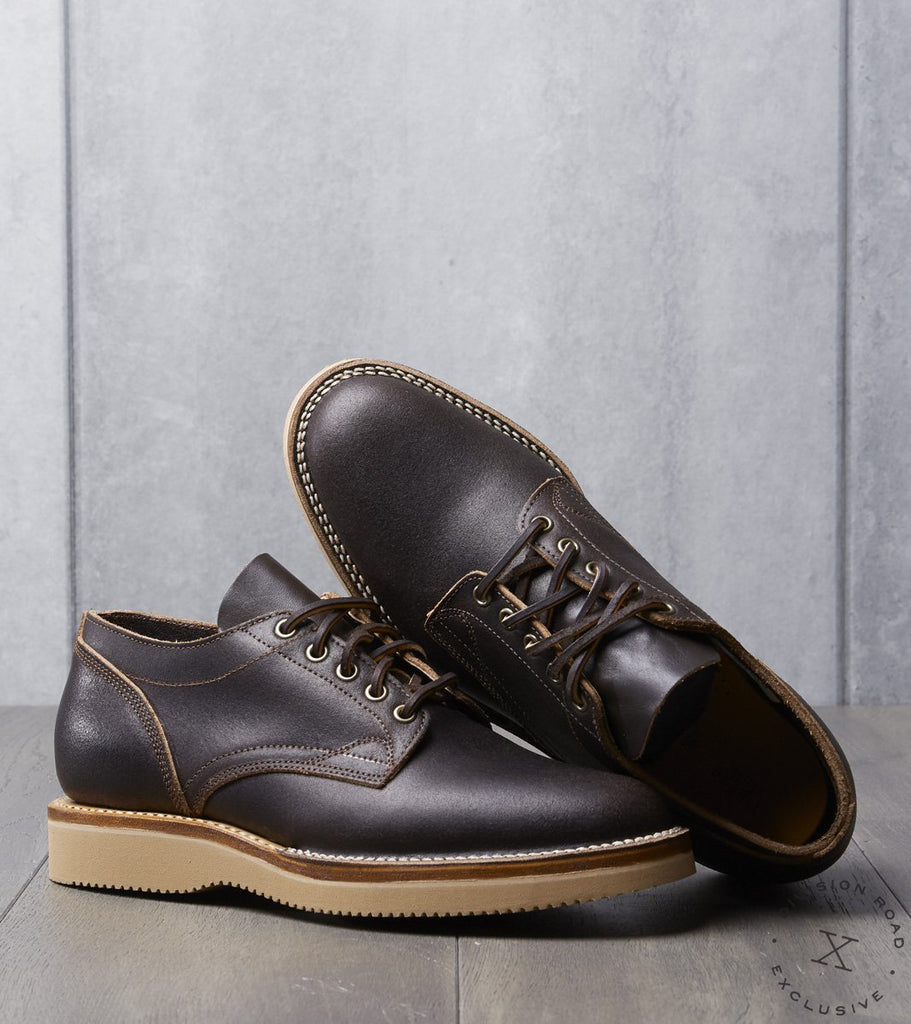 Viberg x Division Road Oxford Shoe - 2030 - Vibram 2060 - Brown Waxed Flesh