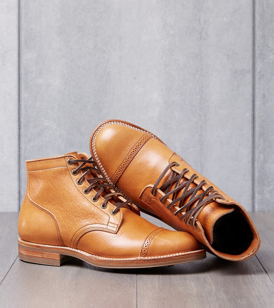 Viberg Service Boot - 2030 - Itshide - Natural Japanese Cowhide Division Road