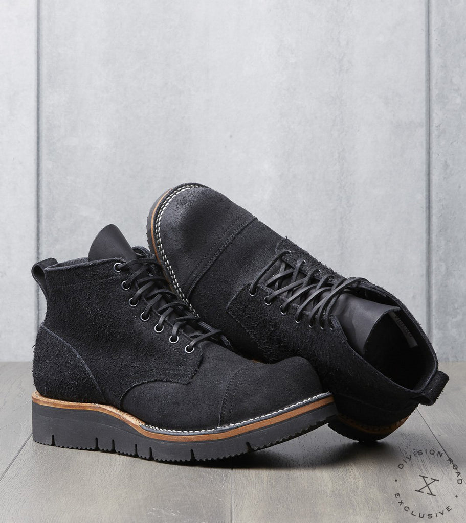 Viberg x Division Road Service Boot - 310 - Vibram Gloxi - Black Oil Tan Roughout