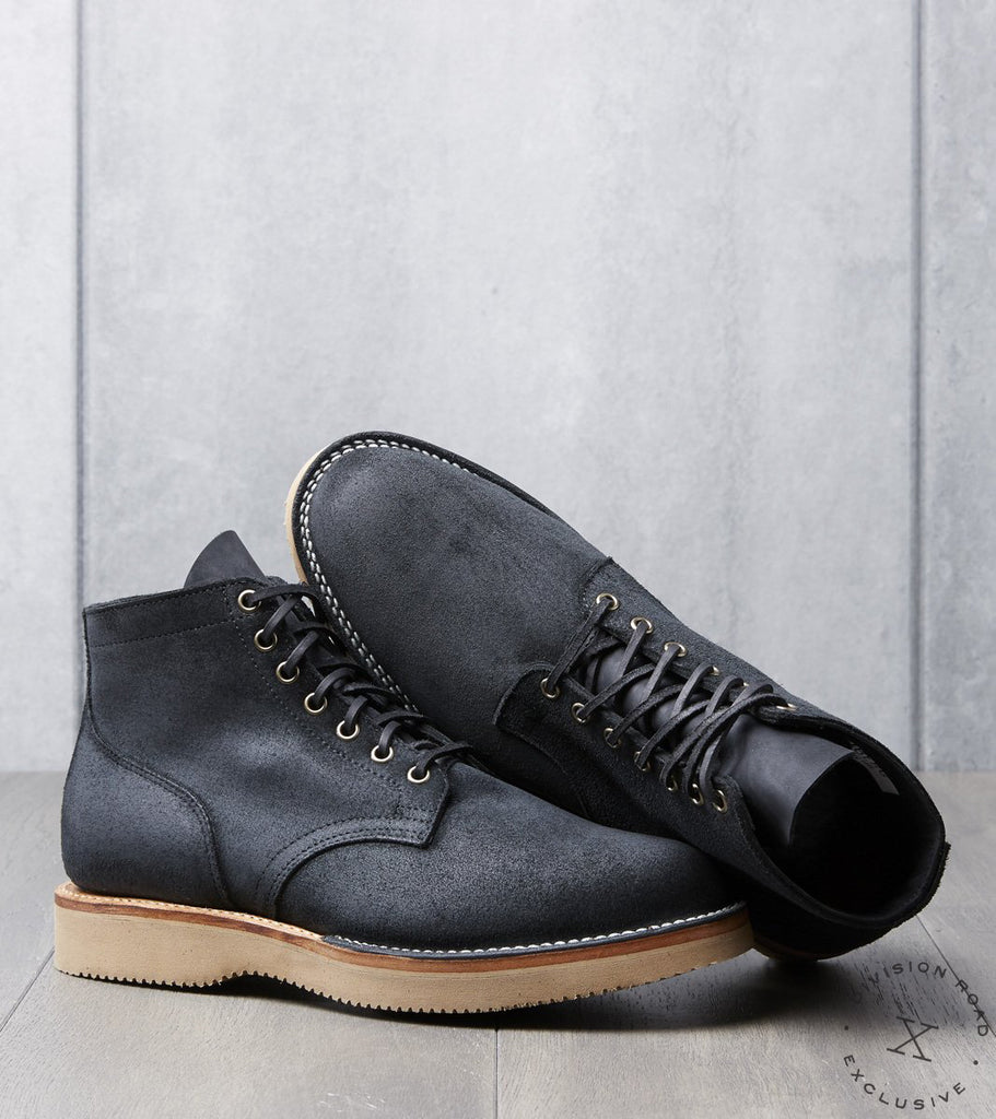Viberg x Division Road Service Boot - 2030 - Vibram 2060 - Charcoal Chamois Roughout