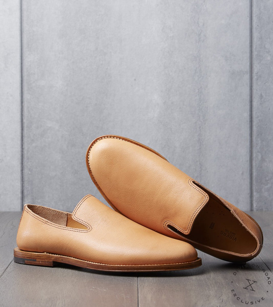 Viberg x Division Road Slipper - 40288 - Leather - Natural Camel