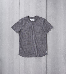 Reigning Champ Tiger Jersey Short Sleeve Tee Black Division Road