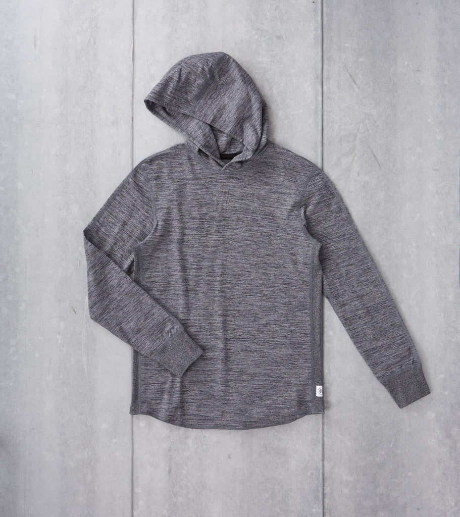 Reigning Champ Tiger Jersey Pullover Hoodie Black Division Road