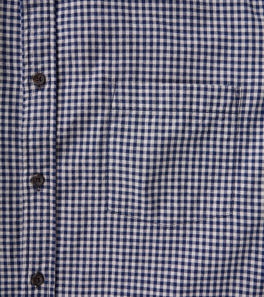 Corridor NYC Japanese Gingham Navy Division Road