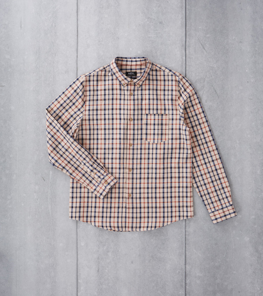 Mick Plaid Shirt - Beige
