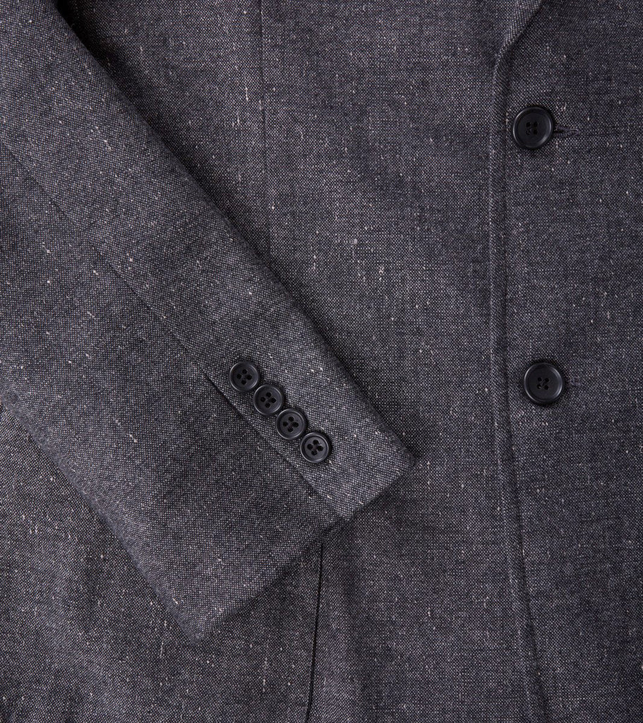 Corridor NYC Tropical Wool Blazer Grey Spec Division Road