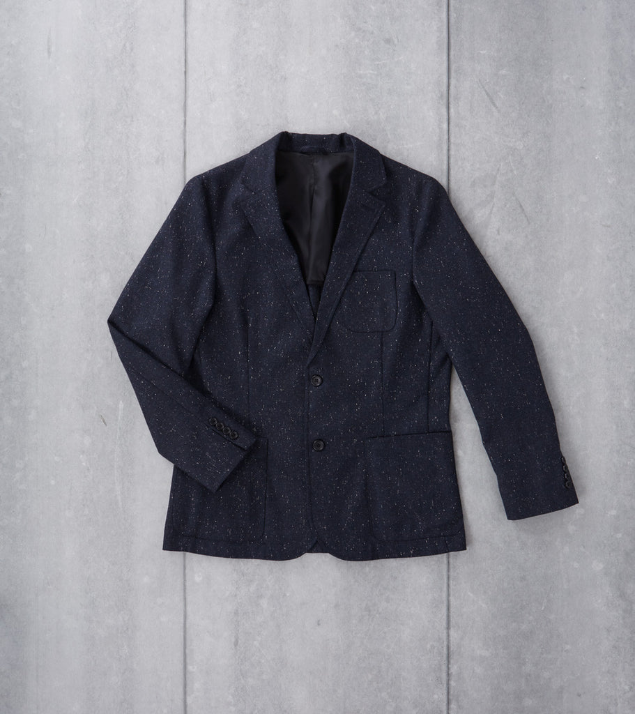 Corridor NYC Tropical Wool Blazer Navy Spec Division Road