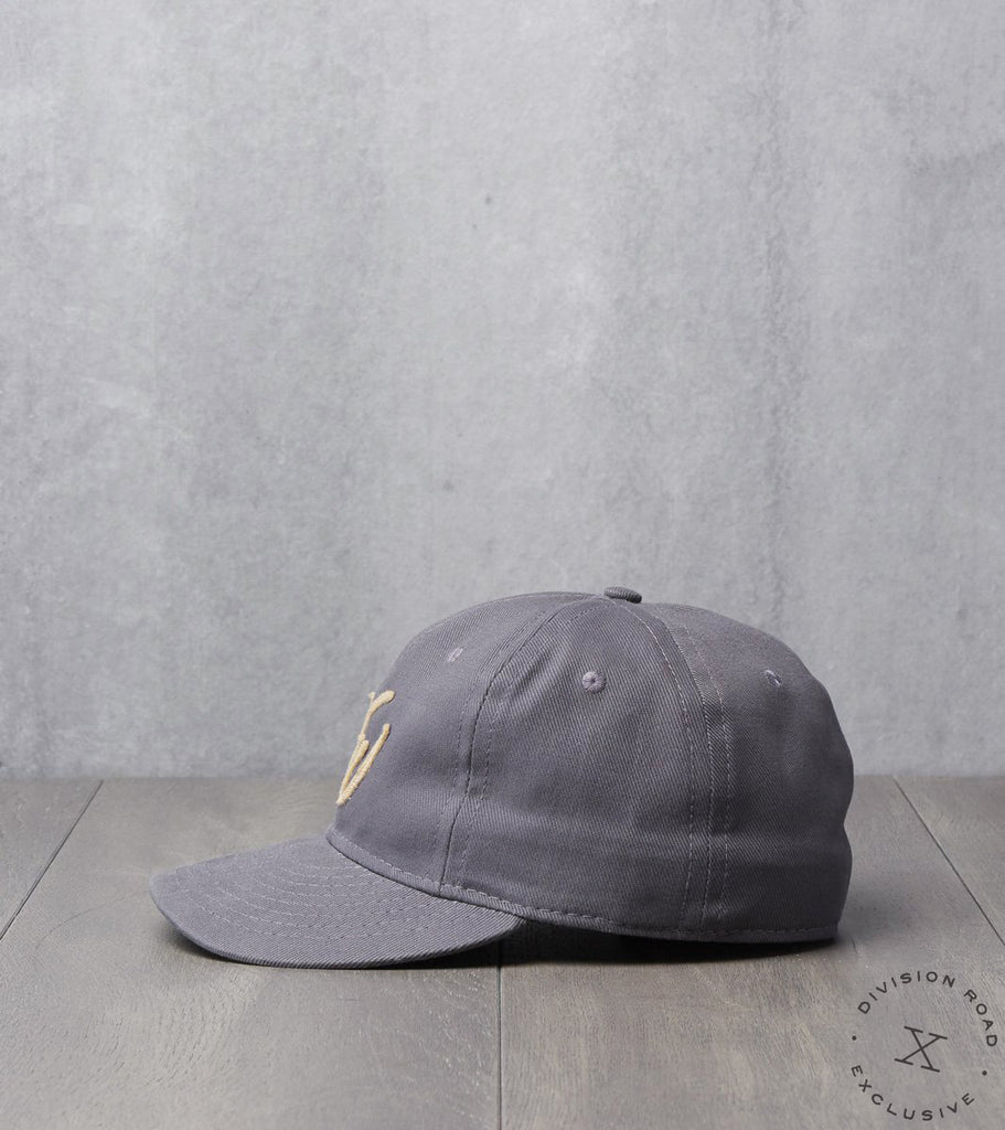 Ebbets Field x Division Road NW Cap - Fitted - Charcoal Bull Denim Twill