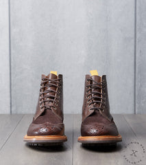 Tricker's x Division Road Textured Stow Boot - Commando - Espresso