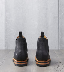 Viberg x Division Road Chelsea Boot - 2050 - Dainite - Black Washed Horsehide