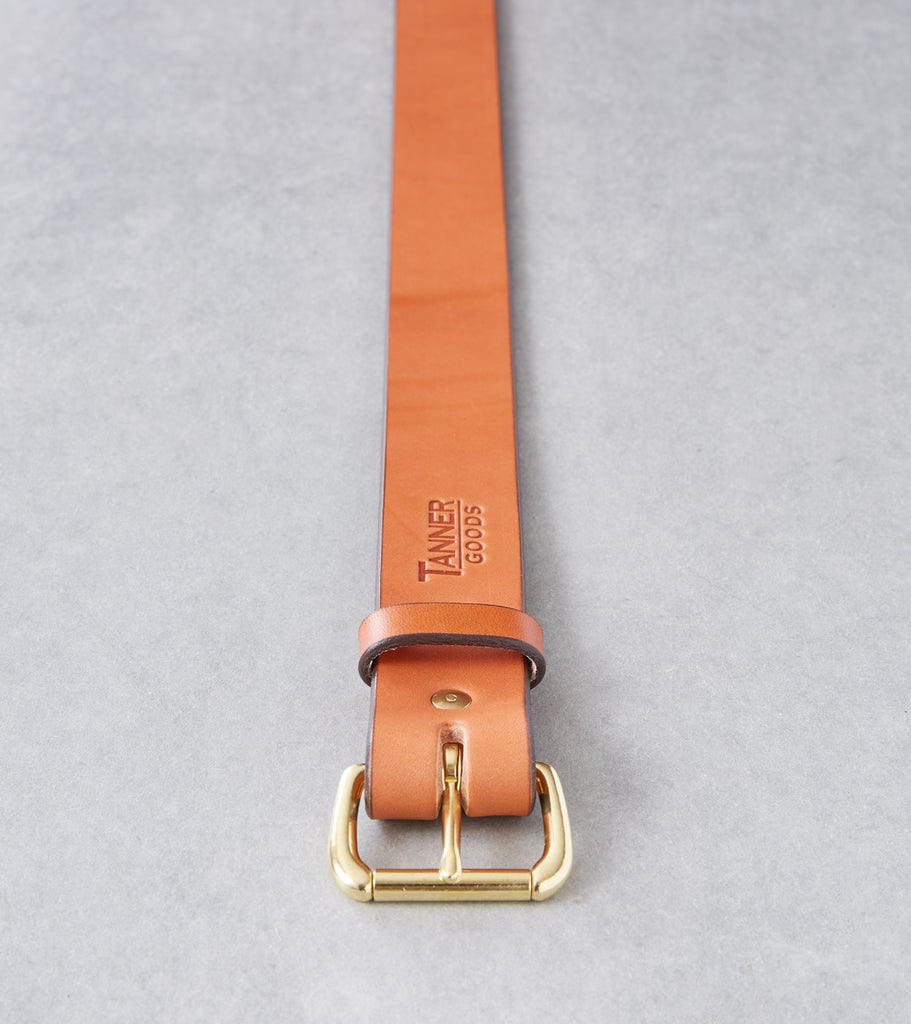 Tanner Goods Standard Belt - Brass - Saddle Tan Division Road