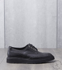 Tricker's x Division Road Bourton Brogue Derby - Christy - Horween Black CXL
