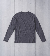 Edit website SEO Reigning Champ Long Sleeve Tee - Heather Charcoal Division Road