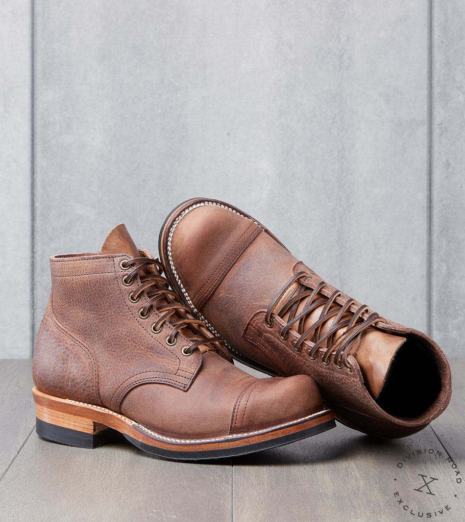 Viberg x Division Road Service Boot - 310 - Vibram 705 - Brown Olive Tan
