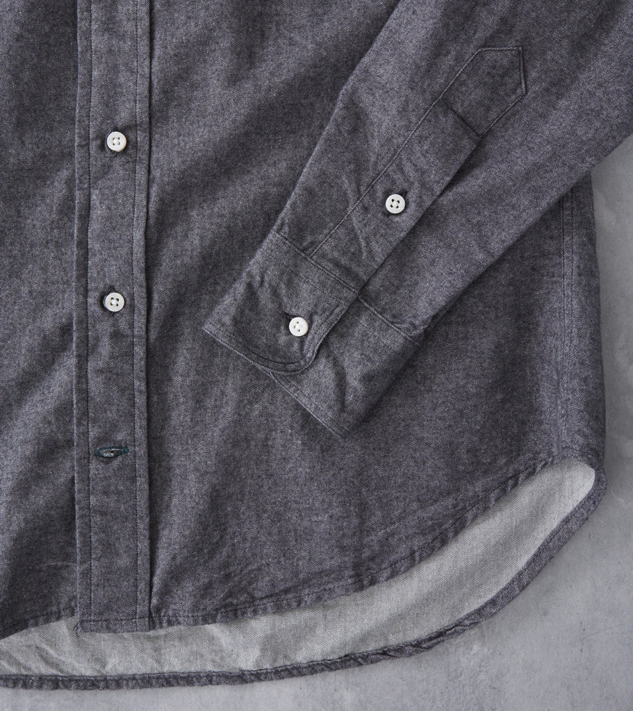 Gitman Vintage Japanese Chambray Flannel Black Division Road Shirt