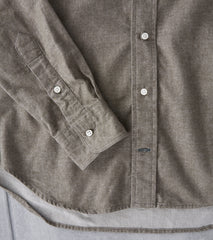 Gitman Vintage Japanese Chambray Flannel Olive Division Road Shirt