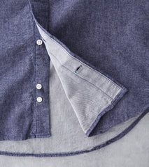 Japanese Chambray Flannel - Navy