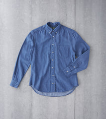 Gitman Vintage Japanese Denim - 6.5 oz. - Washed Indigo Division Road Shirting