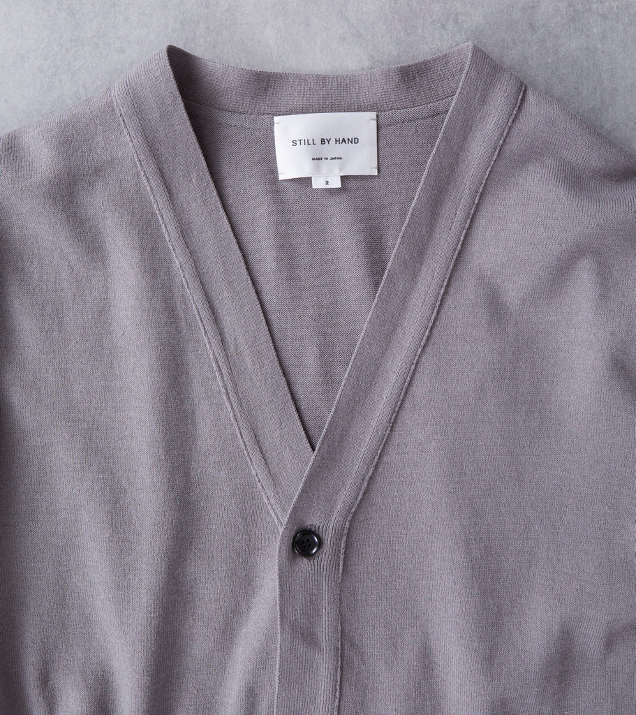 Still By Hand V-Neck Cardigan - Grey - Division Road