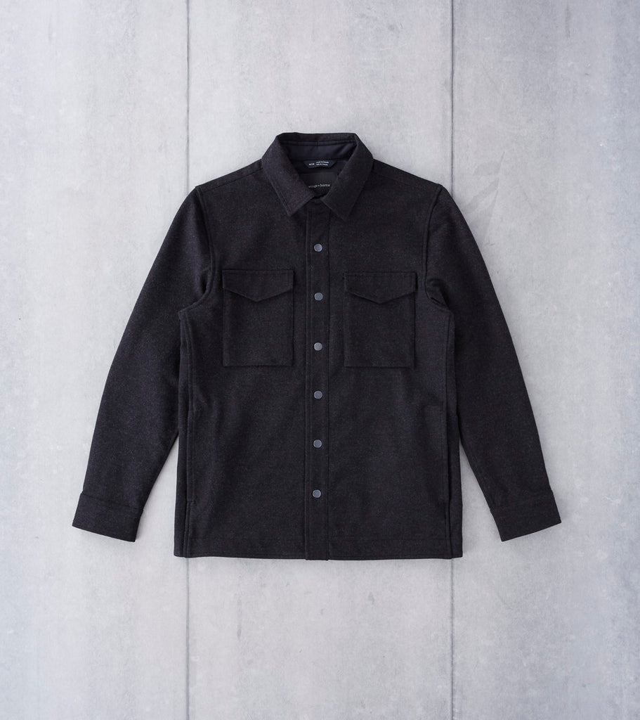 wings + horns Cotton Stretch Twill CPO Jacket - Melange Black - Division Road