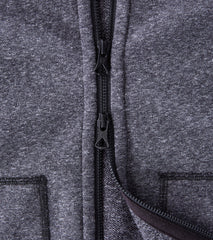 Reigning Champ Full Zip Hoodie - Heather Black - Division Road