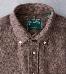 Gitman Vintage Japanese Cotton Tweed - Brown - Division Road
