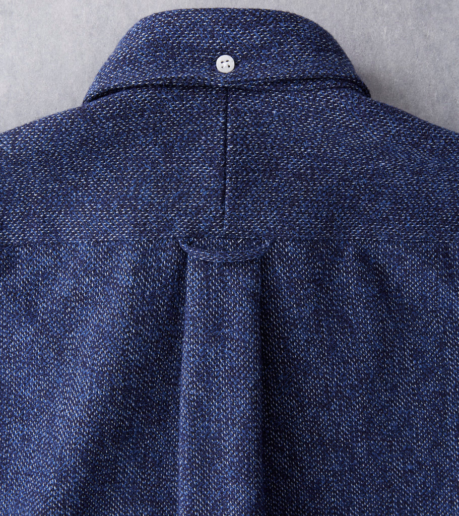 Gitman Vintage Japanese Cotton Tweed - Navy - Division Road