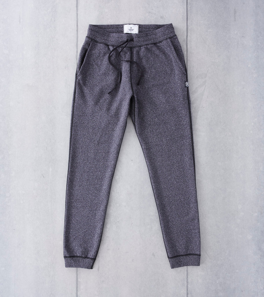 Reigning Champ Slim Sweatpant - Heather Black - Division Road