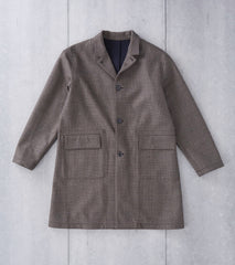 Still By Hand Bonded Check Coat - Brown Division Road