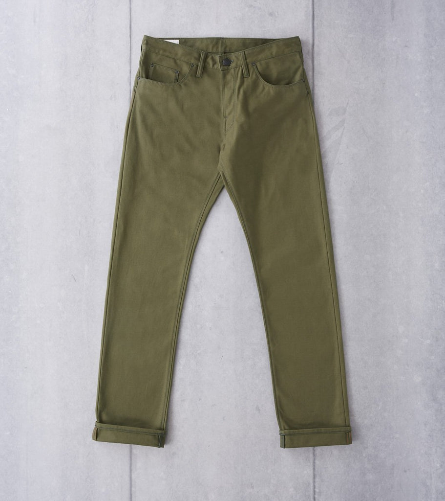 Shockoe Atelier Graduate Pant - Selvedge Duck - Olive Division Road
