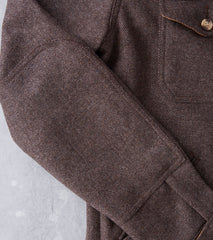Dehen 1920 Crissman Overshirt - Fox Brothers® Wool - Brown Herringbone Division Road