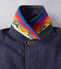 Ginew Heritage Coat - Pendleton® Blanket - White Oak Selvedge Denim Division Road