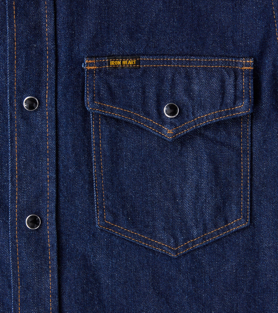 Iron Heart 246-NIN - Western - 12oz Selvedge Denim Natural Indigo Division Road