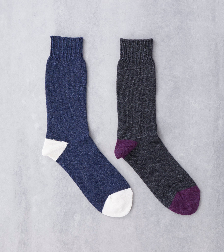 Anonymous Ism Wool Cashmere Crew Sock Division Road