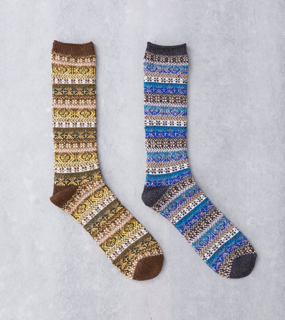 Anonymous Ism Fair Isle Crew Sock Division Road
