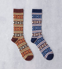 Anonymous Ism Wool Jacquard Crew Sock Division Road
