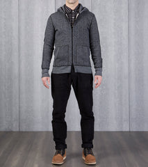 Reigning Champ Tiger Fleece Full Zip Hoodie - Black Division Road