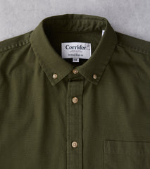 Corridor NYC x Division Road Japanese Overdyed Oxford - Hunter Green