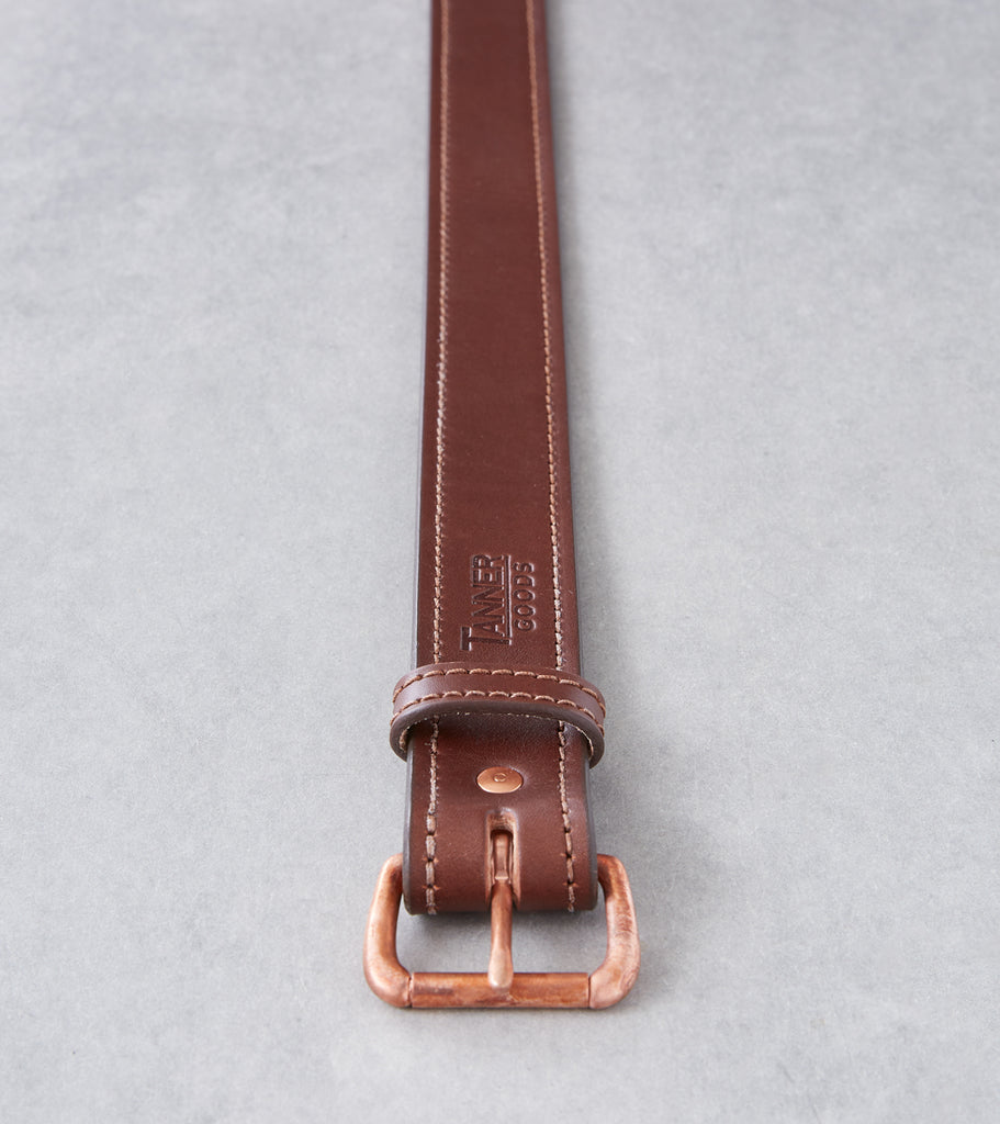 Tanner Goods Heritage Belt - Copper - Cognac Division Road