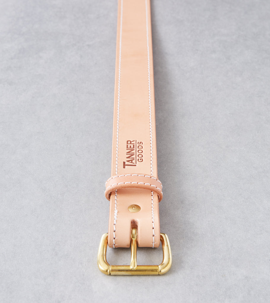 Tanner Goods Heritage Belt - Brass - Natural Division Road
