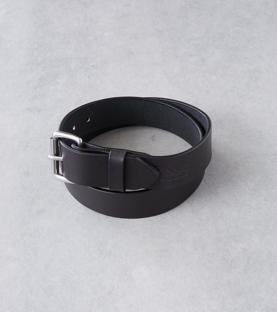 Tanner Goods Standard Belt - Stainless - Black Division Road