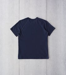 Reigning Champ Reverse Twill Short Sleeve Tee - Navy Division Road