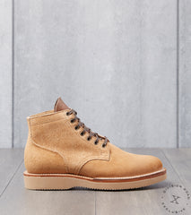 Viberg x Division Road Service Boot - 2030 - Vibram 2060 - Faded Wheat Chamois Roughout