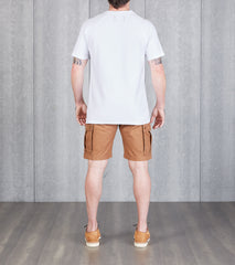 Reigning Champ Reverse Twill Short Sleeve Tee - White Division Road