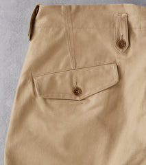 MotivMfg X Division Road English Convertible Trousers - Dark Khaki Japanese Twill