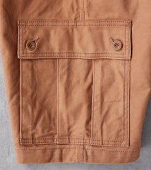 Iron Heart 724-BRN - Camp Short - 12oz Swedish Serge Twill Brown Division Road