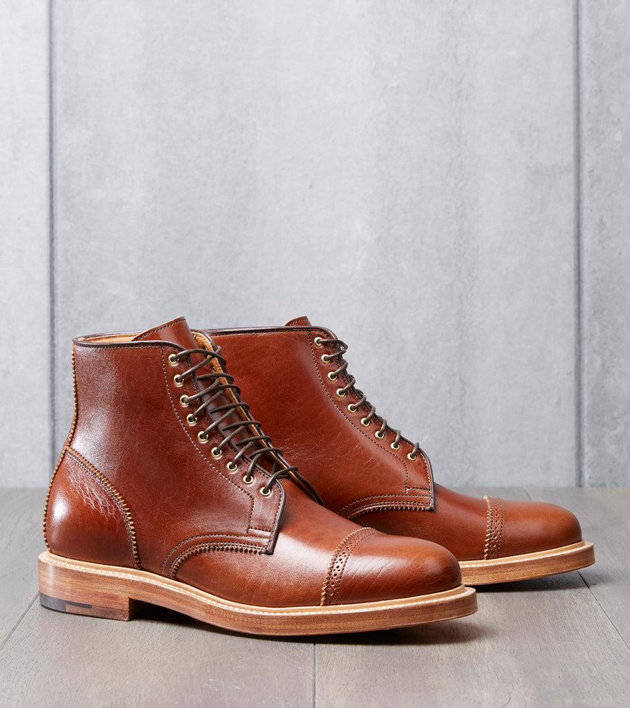 Division Road x Viberg MOTIV Shelby Sharp Brogue Boot - 2030 - Leather - Oiled Natural Horsebutt