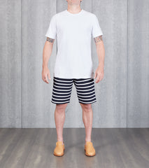 Reigning Champ Striped Terry Short - Navy Division Road
