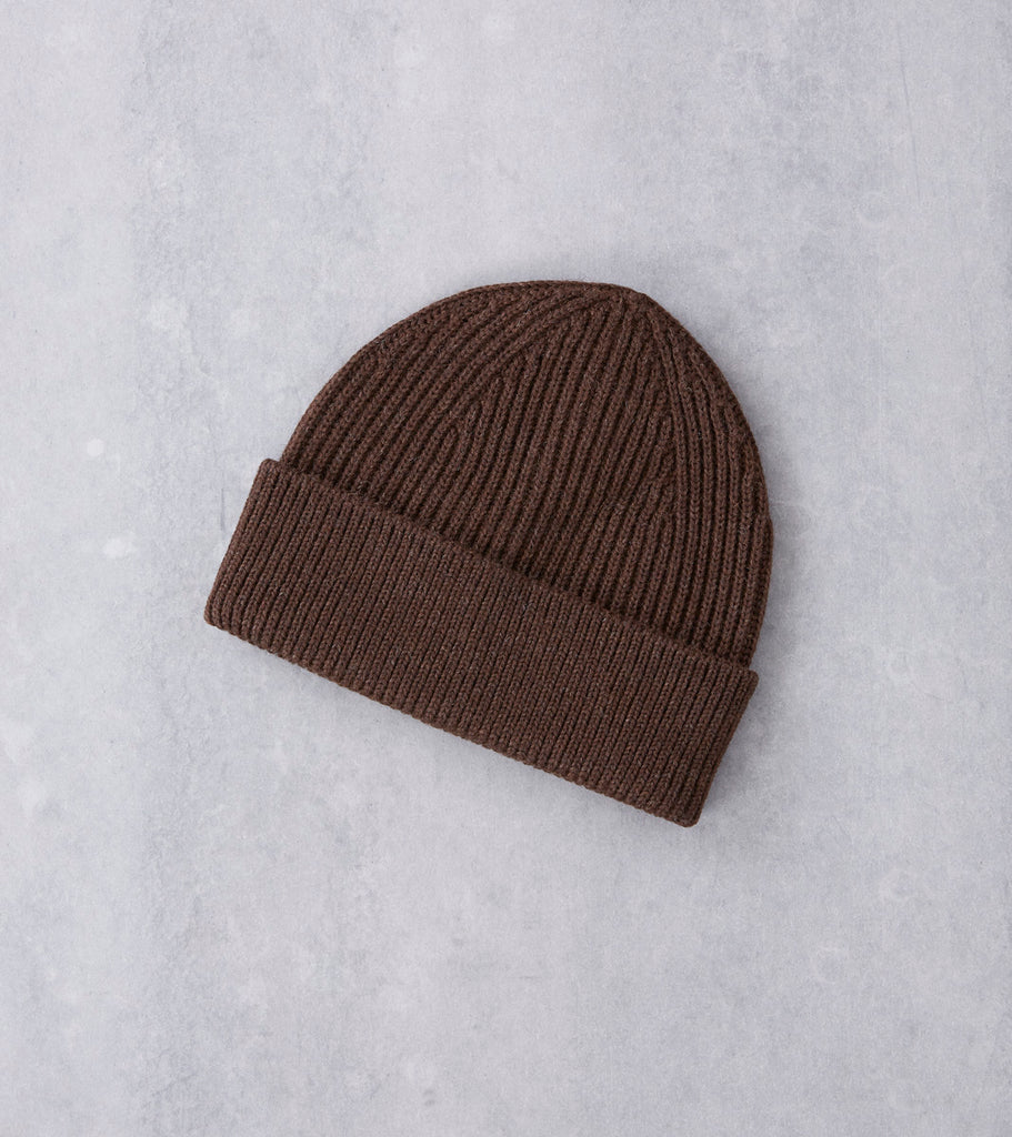 Andersen-Andersen Classic Knit Beanie - Natural Brown Division Road