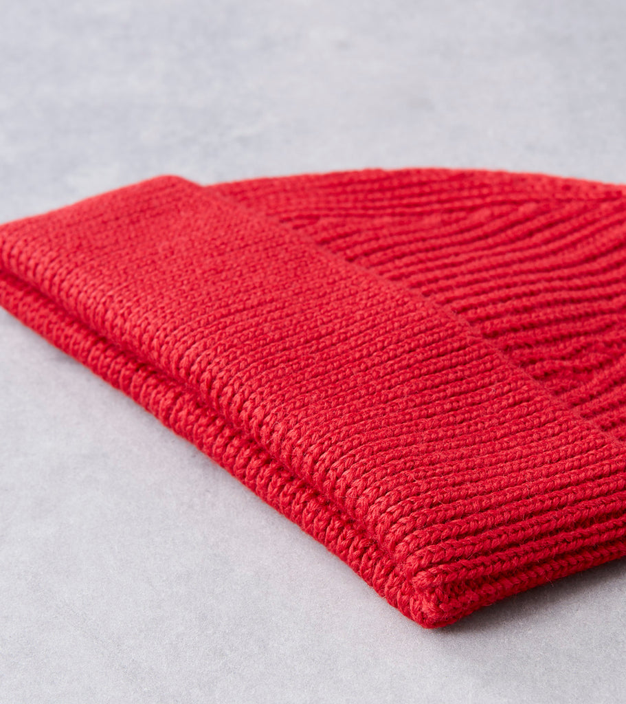 Andersen-Andersen Short Knit Beanie - Red Division Road